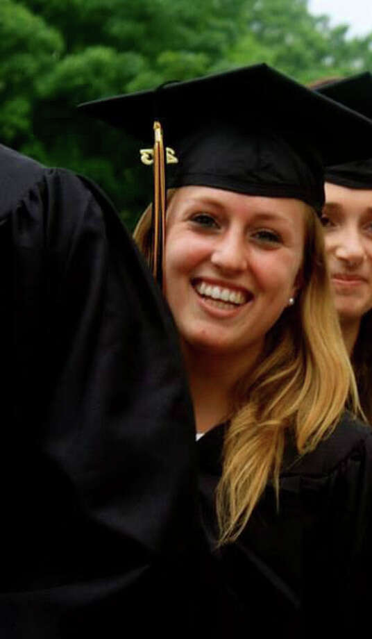 Sarah Steinharter on graduation day at Wake Forest University in May 2013 Photo: Contributed Photo / Connecticut Post Contributed