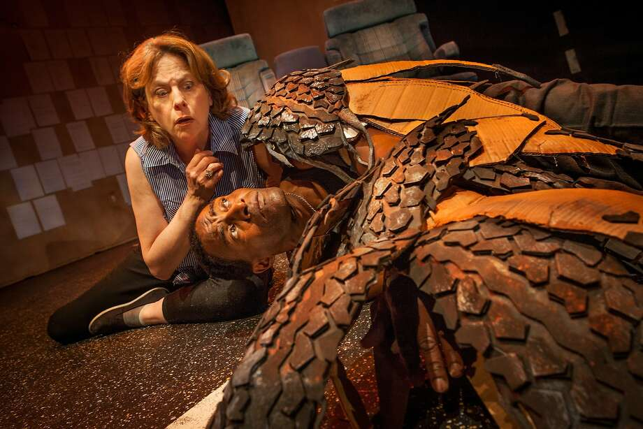 "The Driver (JoAnne Winter, left) discovers an injured hawk (Carl Lumbly) in Word for Word's ""36 Stories by Sam Shepard"" Photo: Mark Leialoha"