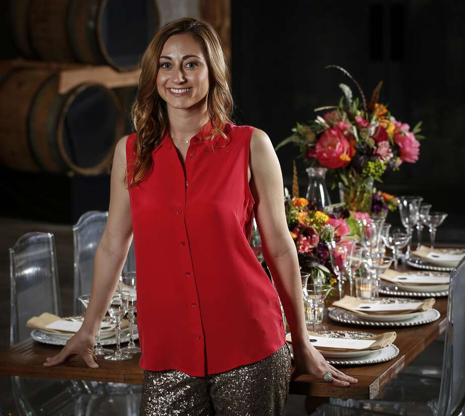 Event planner Rebecca Miller, at Bluxome Street Winery in S.F., is the owner of MartiniBird, whose clients include Uber and the tech website the Information. She has also planned birthday parties on remote islands and had ice trucked in for holiday fetes. Photo: Russell Yip, The Chronicle