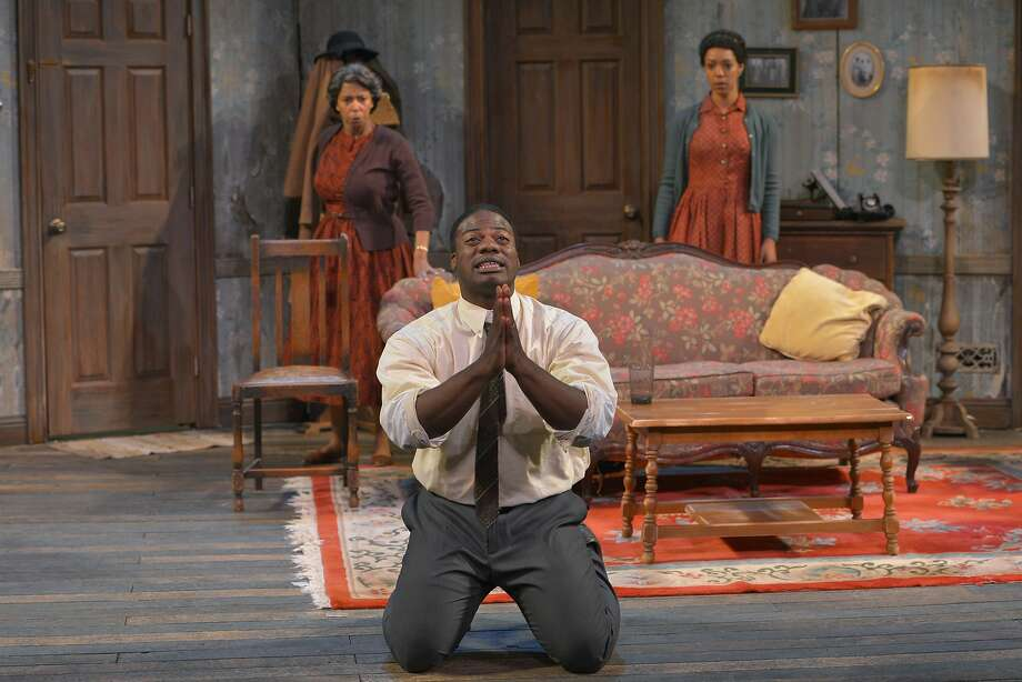 "Margo Hall (left), Marcus Henderson and Nemuna Ceesay star in California Shakespeare Theater's ""A Raisin in the Sun."" Photo: Kevin Berne"