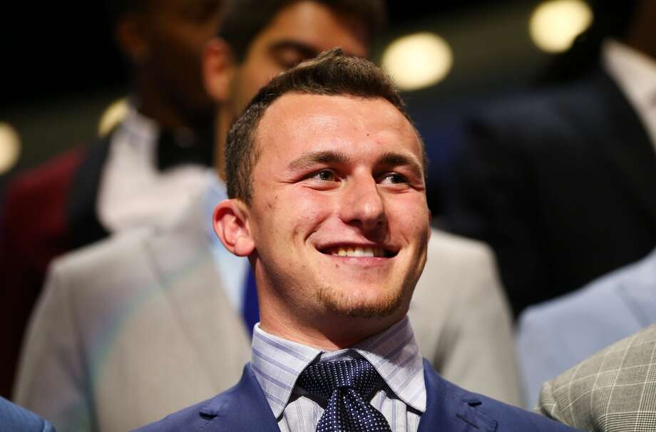Johnny Manziel of the Texas A&M Aggies is introduced during the first round of the 2014 NFL Draft at Radio City Music Hall on May 8, 2014 in New York City. Photo: Elsa, Getty Images