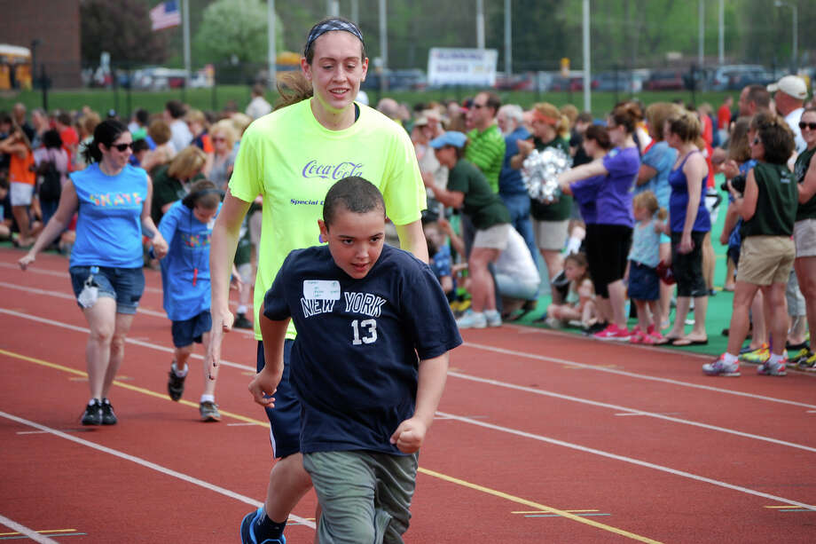 UConn star Breanna Stewart served as the master of ceremonies at the Onondaga County, New York Special Olympics Track & Field event at the Cicero-North Athletic Complex. Photo: Contributed Photo, Contributed Photo / Connecticut Post Contributed
