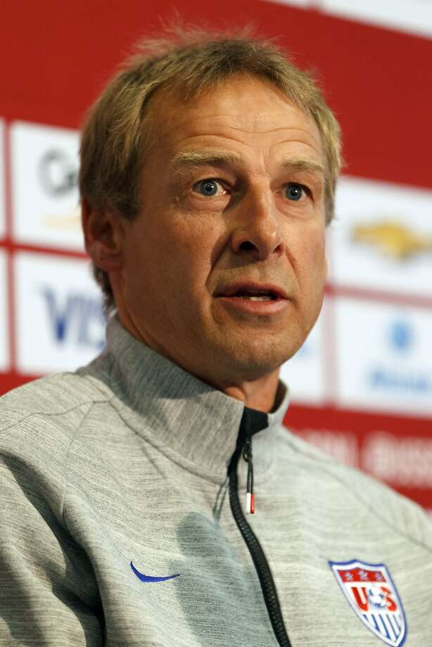PALO ALTO, CA - MAY 23:  U.S. Men's National Soccer Team Head Coach Jurgen Klinsmann speaks during a press conference at Stanford University on May 23, 2014 in Palo Alto, California. Klinsmann held the press conference to answer questions about his World Cup roster selections, including the omission of Landon Donovan. (Photo by Jason O. Watson/Getty Images) Photo: Jason O. Watson, Getty Images