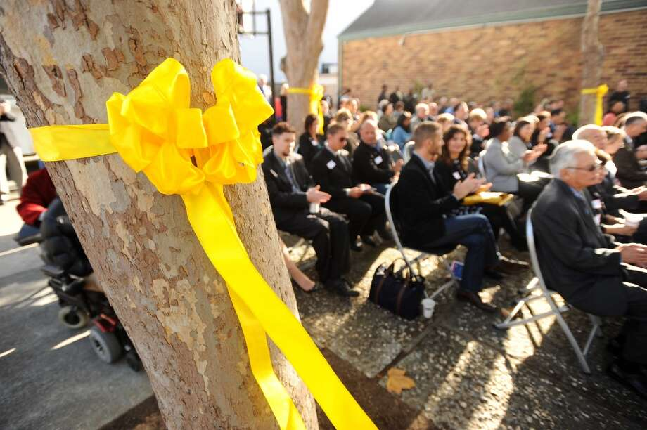 51. California. Pictured: A yellow ribbon decorates a tree during an event to raise awareness for homeless veterans at the Salvation Army Harbor Light Center in San Francisco. Photo: Noah Berger, Special To The Chronicle