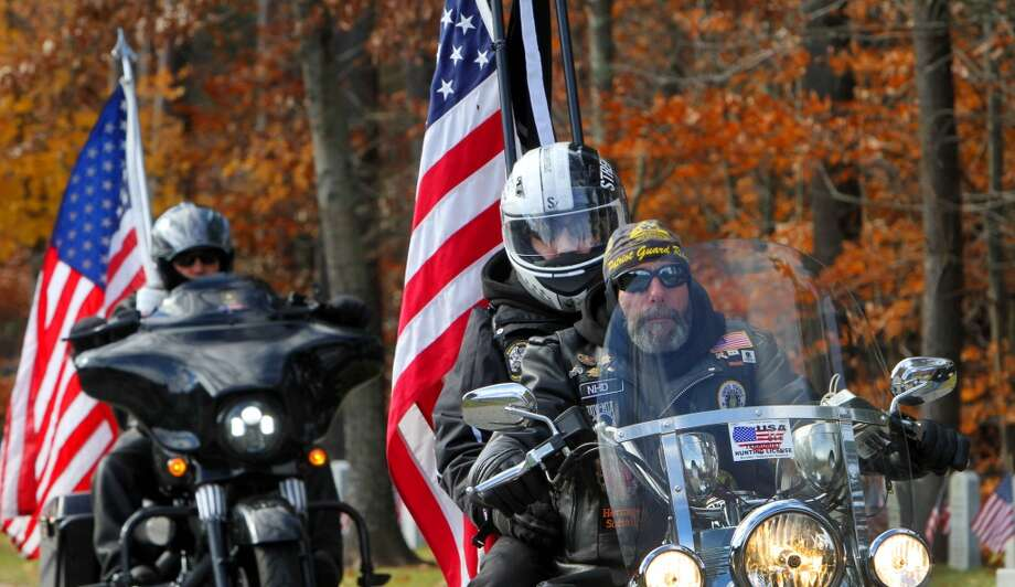 2. New Hampsire. Pictured: Veterans arrive on motorcycles at a Veterans Day ceremony at the New Hampshire State Veterans Cemetery,  in Boscawen, N.H. Photo: Jim Cole, Associated Press