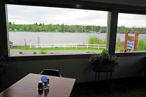 A view looking out at Ballston Lake from inside Villago Pizzeria & Ristorante on Thursday, May 15, 2014, in Ballston Lake, N.Y.   (Paul Buckowski / Times Union)