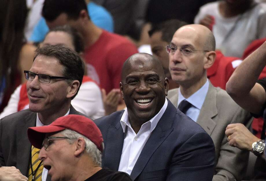 NBA Commissioner Adam Silver might back a Magic Johnson-led bid to buy the Clippers from the Sterlings. Photo: Mark J. Terrill, Associated Press
