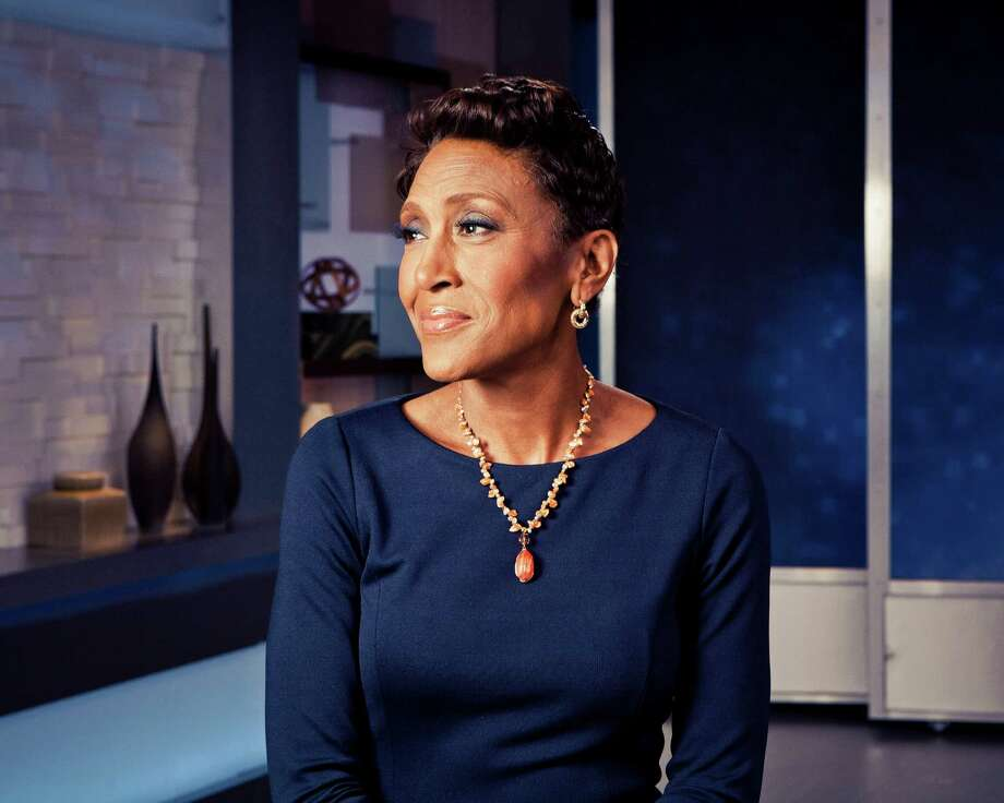 "Robin Roberts on the set of ABC's""Good Morning America,"" in New York, April 3, 2014. Photo: RYAN PFLUGER, STR / NYTNS"