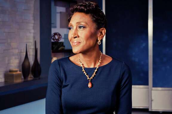 "Robin Roberts on the set of ABC's""Good Morning America,"" in New York, April 3, 2014."