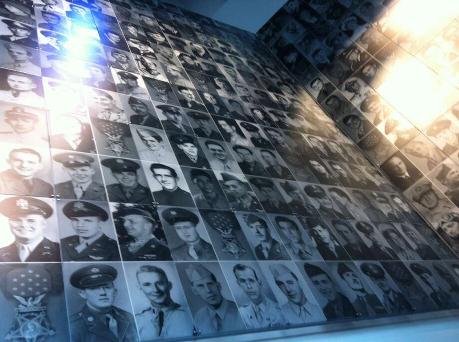 A corner of the pavilion features the faces of all 464 Medal of Honor recipients. Photo: Spud Hilton, Bad Latitude