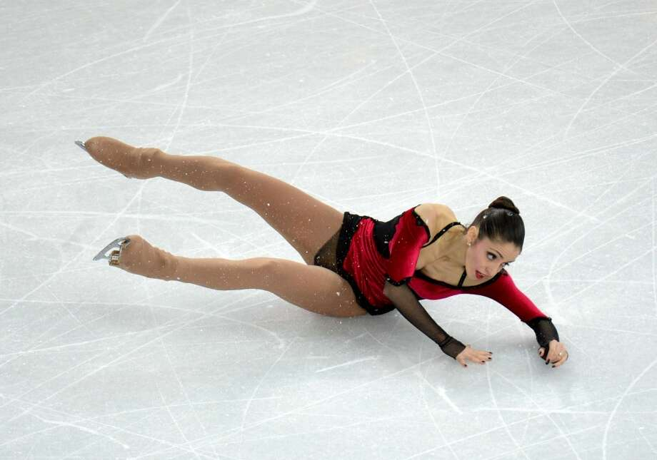 Italy's Stefania Berton falls as she performs with Italy's Ondrej Hotarek their Figure Skating Pairs Free Program at the Iceberg Skating Palace during the Sochi Winter Olympics on February 12, 2014. AFP PHOTO / YURI KADOBNOVYURI KADOBNOV/AFP/Getty Images Photo: YURI KADOBNOV, AFP/Getty Images