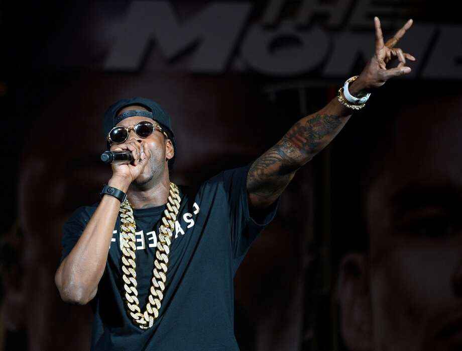 Rapper 2 Chainz, also known as Tauheed Epps, was robbed in 2013 outside a medical marijuana dispensary in San Francisco's South of Market neighborhood. The thieves held up the rapper and his entourage and made off with his wallet and cell phone. Police confirm that his chainz were left intact. Photo: Ethan Miller, Getty Images