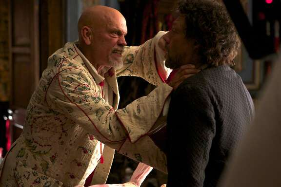 "CROSSBONES -- ""Pilot""  -- Pictured: (l-r) John Malkovich as Blackbeard, Richard Coyle as Tom Lowe"
