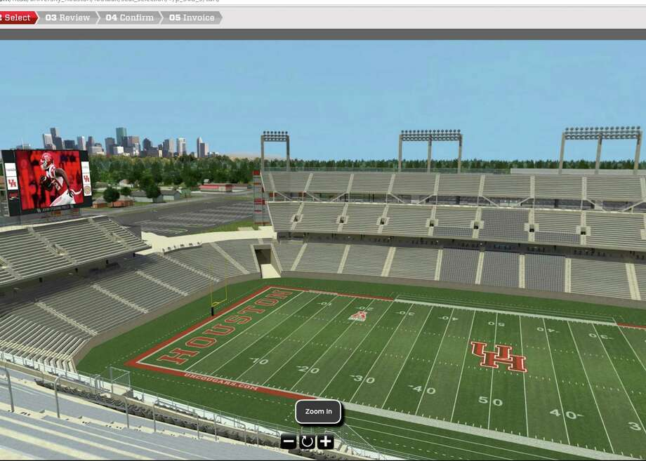 University of Houston season-ticket holders are just a mouse click away from enjoying the view from their seats in the new football stadium, thanks to a new seat-viewing online tool. Photo: Courtesy University Of Houston