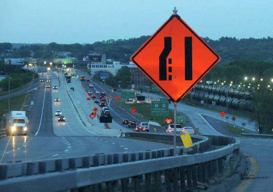 Work on bridges and roads around the Capital Region may be interrupted by troubles with the federal Highway Trust Fund.  Congress has proposed a plan to transfer $10.7 billion to the fund. Photo: Michael P. Farrell / 00026965A