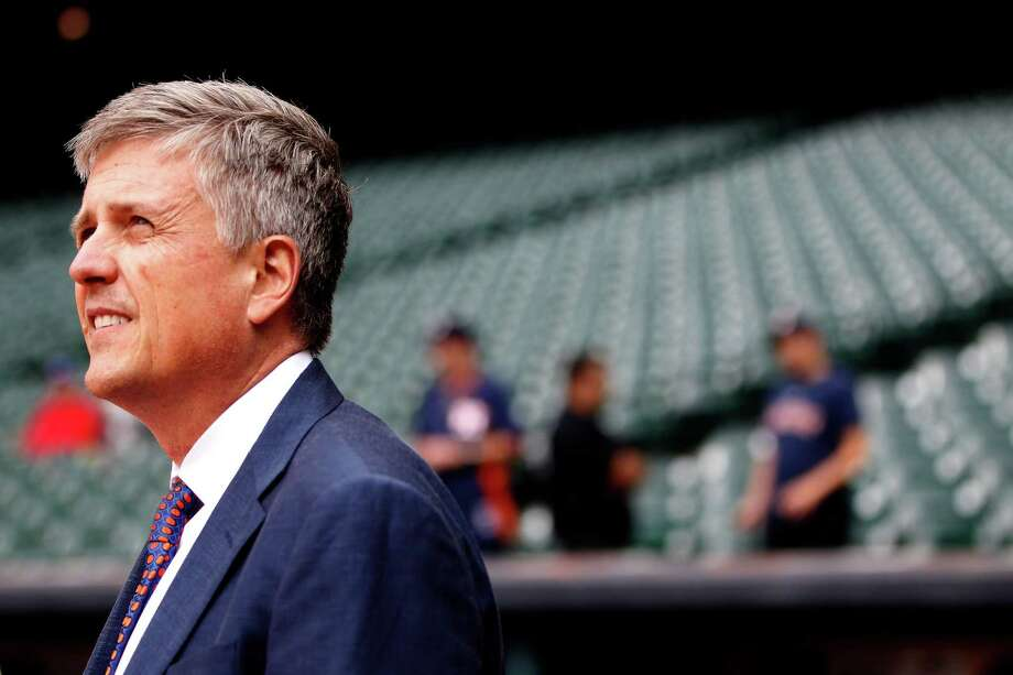 """Regarding criticism of his methods, Astros general manager Jeff Luhnow said, """"We're not running for election here; it's not a popularity contest. We're trying to win big league games."""" Photo: Karen Warren, Staff / © 2014 Houston Chronicle"""