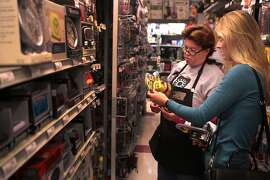 Heather Borstel, left, helps customer Charlotte Ferguson find some hardware supplies at the Standard 5 & 10 Ace Hardware store in the Laurel Village shopping center on California Street in San Francisco, Calif. on Thursday, May 22, 2014. The store has been in the shopping center since 1949.