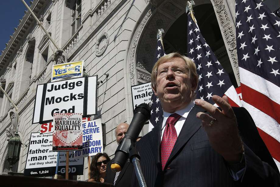 Theodore Olson, the attorney representing opponents of Proposition 8, originally hoped to push a broader case all the way to the U.S. Supreme Court. Photo: Michael Macor, The Chronicle