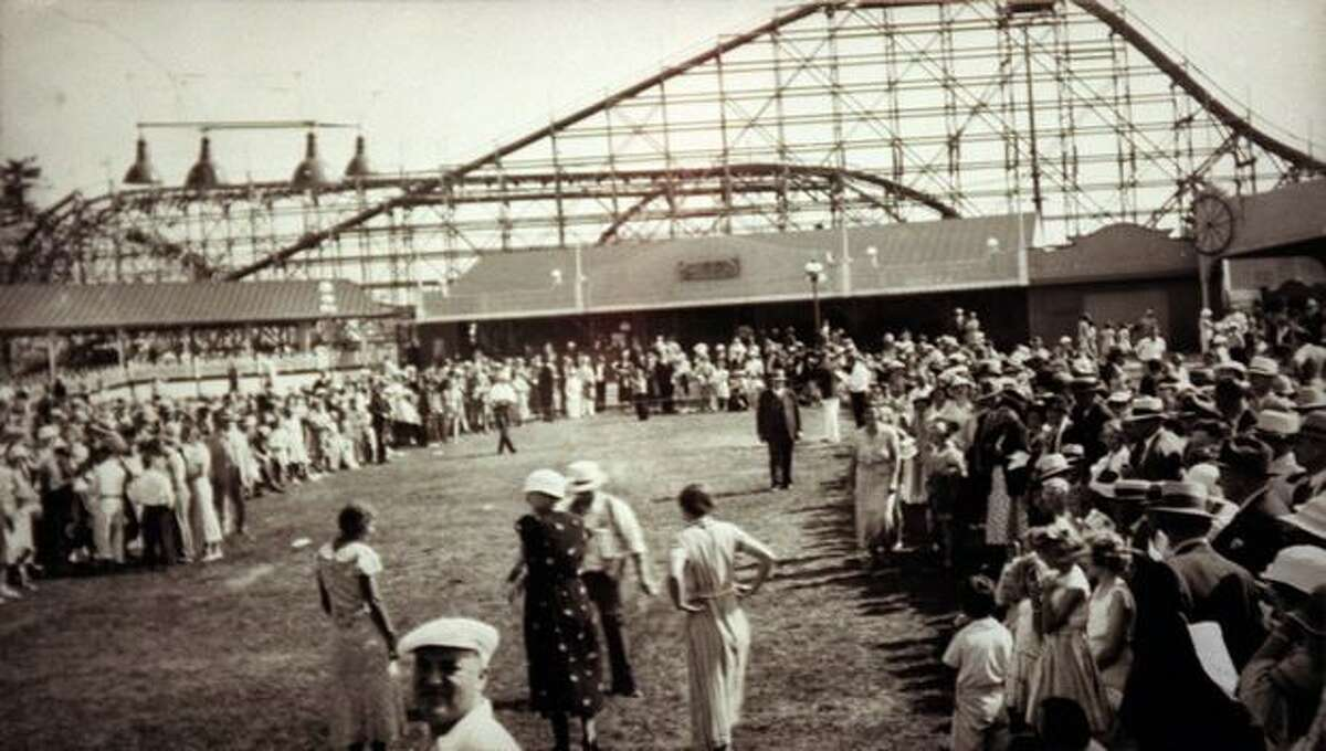 The Dipper roller coaster at Playland, circa 1930.