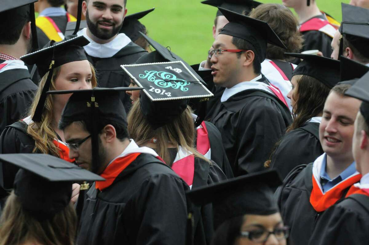 Graduates process during the Rensselaer Polytechnic Institutes 208th commencement on Saturday May 24, 2014 in Troy, N.Y. (Michael P. Farrell/Times Union)