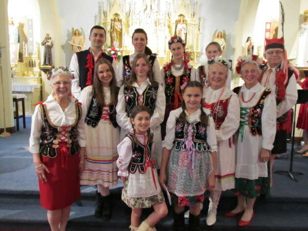In Cohoes, St. Michael's parishioners in traditional Polish dress celebrated Heritage Day on May 17.  The Joseph Kosek Family Polka Band played traditional Polish and English hymns at the Polka Mass, celebrated by the Rev, Peter  Koch and the Rev. Richard Dybas, pastor  emeritus, as the co-celebrant. (Submitted photo)
