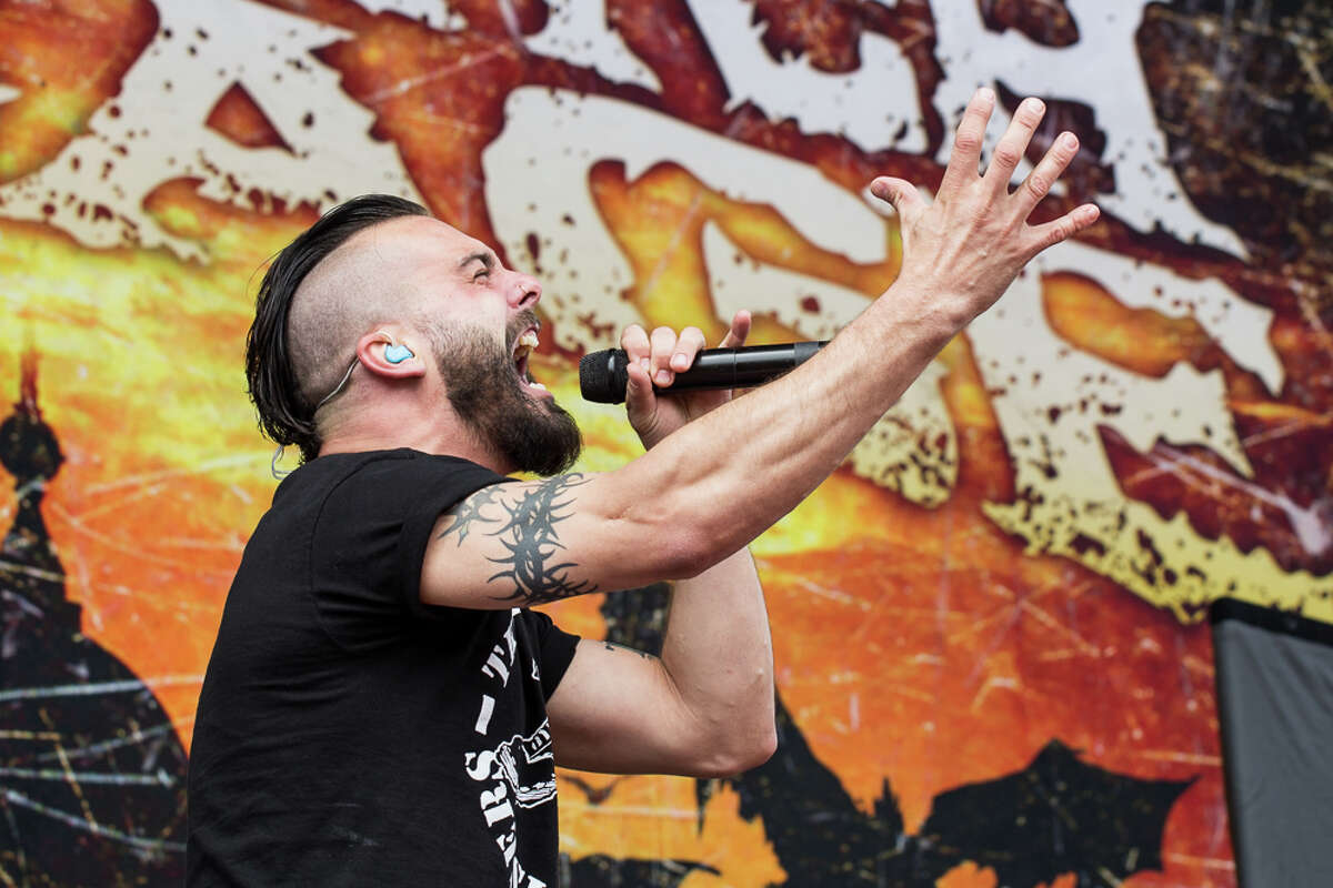 Killswitch Engage perform at the eighth annual Rock on the Range at Crew Stadium on May 16, 2014, in Columbus, Ohio.