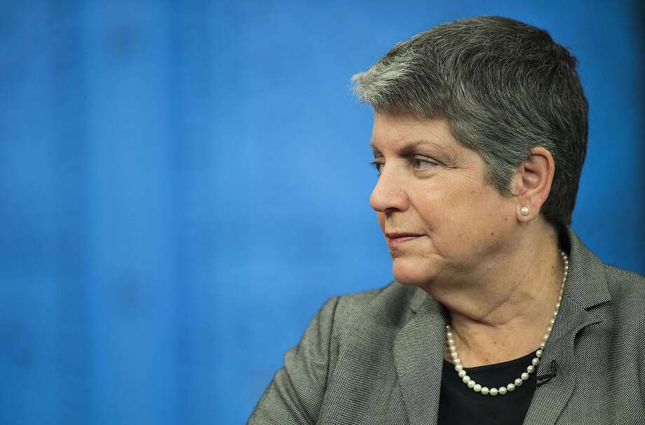 Janet Napolitano, UC president, was booed for her immigration stance at Homeland Security. Photo: Jim Watson, AFP/Getty Images