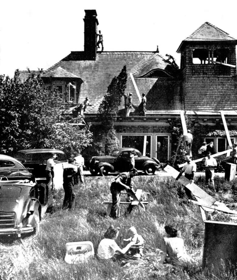 Veterans returning to Greenwich after World War II faced a housing shortage similar to the one facing vets across the country, so a group of returning veterans formed a corporation and leased the property on Greenwich Point that was home to the Tod Mansion for one dollar a year. The members of the corporation renovated the property and built a dozen or so apartments for themselves and their families. Photo: Contributed Photo / Greenwich Time Contributed