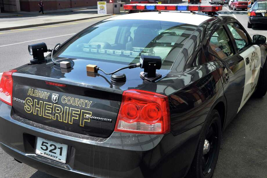 Trunk  mounted police license plate scanners on an Albany Sheriff patrol car at Albany International Airport Thursday May 8, 2014, in Colonie, NY.  (John Carl D'Annibale / Times Union) Photo: John Carl D'Annibale / 00026699A