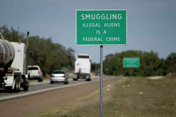 A sign is a reminder along Interstate 69C between Falfurrias and McAllen Tuesday, Feb. 18, 2014. ( Johnny Hanson / Houston Chronicle )