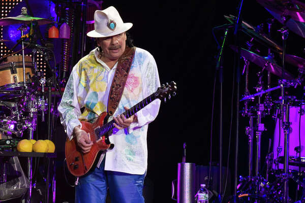 Carlos Santana performs Friday, May 23, 2014, at the Times Union Center in Albany. (Trudi Shaffer/Times Union)