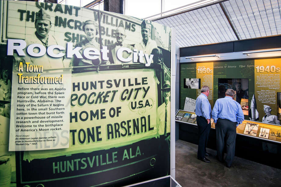 """A history display at the U.S. Space and Rocket Center in """"Rocket City,"""" Huntsville, Ala. Photo: Smiley N. Pool, Houston Chronicle / © 2014  Houston Chronicle"""