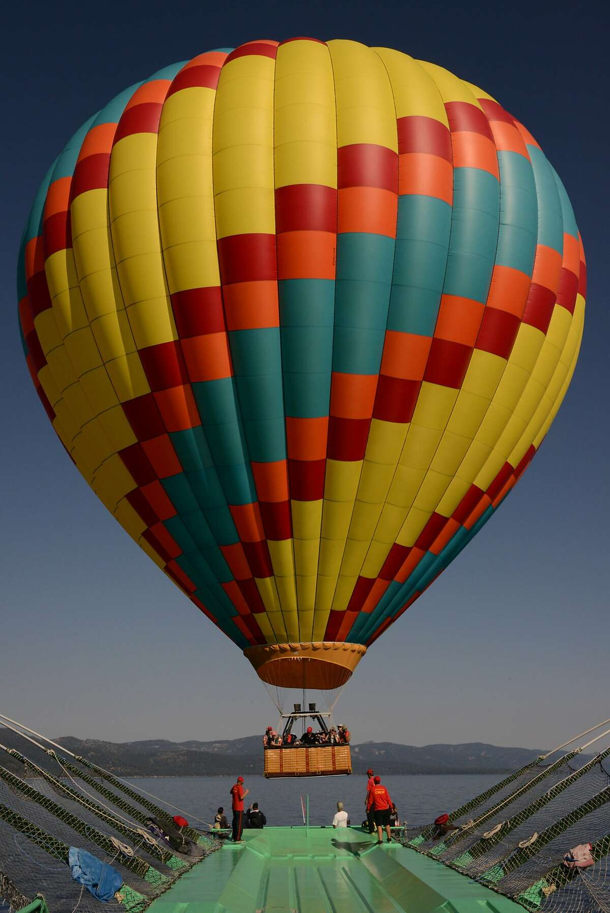 Lake Tahoe Balloons uses the world's only U.S. Coast Guard certified balloon launch and recovery vessel.