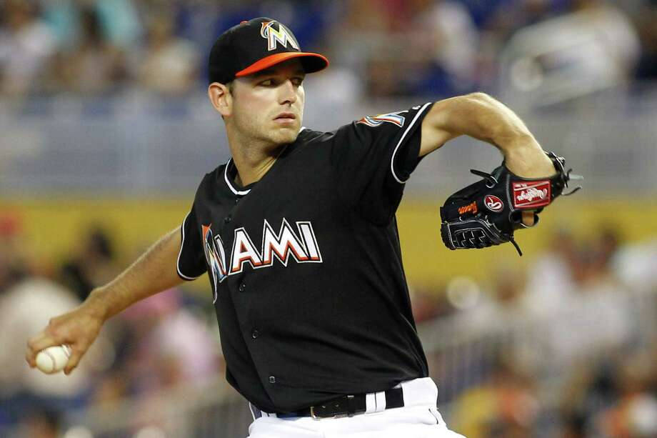 The Marlins' Jacob Turner pitched 61/3 scoreless innings for his first victory in 18 starts. Photo: Joe Skipper / Associated Press / FR171174 AP