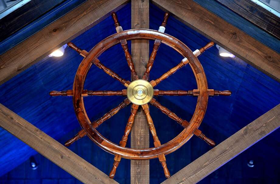 A ships wheel at the Neches River Wheelhouse in Port Neches. Photo taken Tuesday, May 13, 2014 Guiseppe Barranco/@spotnewsshooter