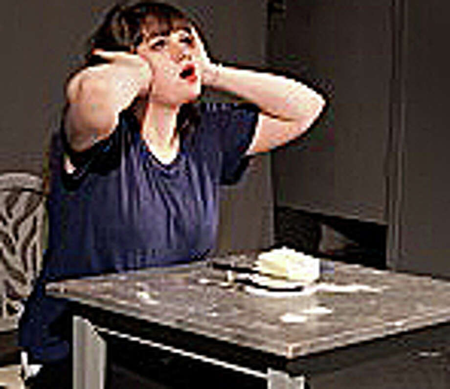 "Anya Liftig, a Staples High School graduate, in a 2012 performance she gave in Brooklyn, titled, ""Butterface."" Photo: Contributed Photo / Westport News"