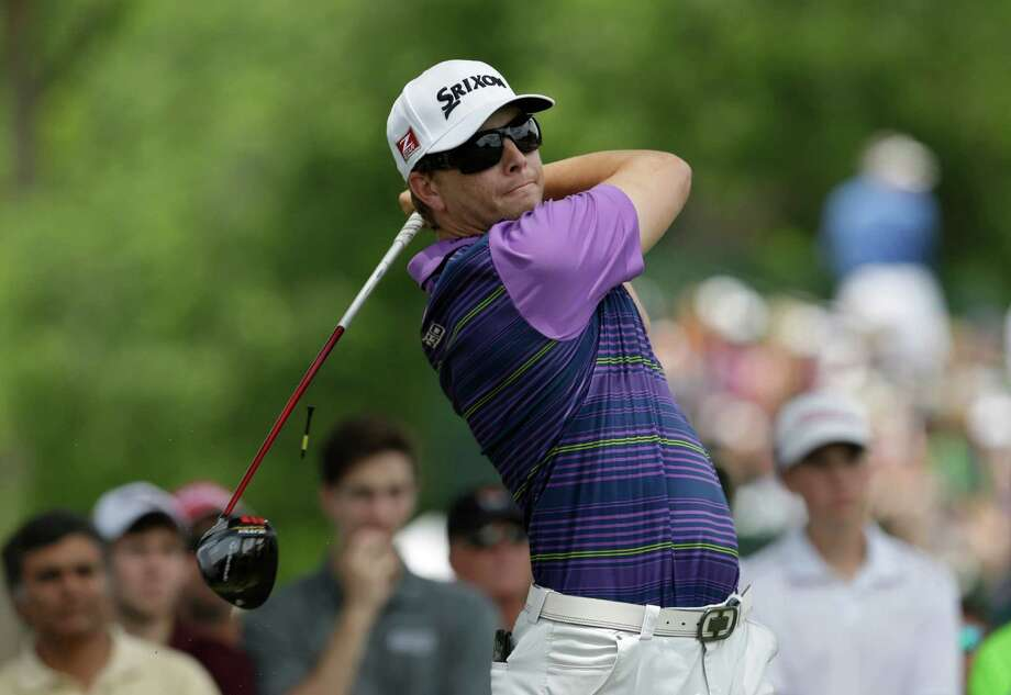 Chris Stroud watches his tee shot on the third hole during the final round of the PGA Colonial golf tournament in Fort Worth, Texas, Sunday. (AP Photo/LM Otero) Photo: LM Otero, STF / AP