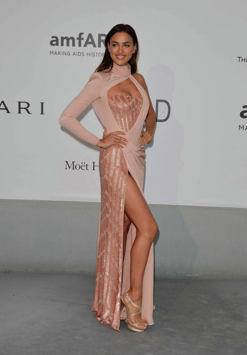 Irina Shayk attends amfAR's 21st Cinema Against AIDS Gala, Presented By WORLDVIEW, BOLD FILMS, And BVLGARI at the 67th Annual Cannes Film Festival on May 22, 2014 in Cap d'Antibes, France. (Photo by George Pimentel/WireImage)