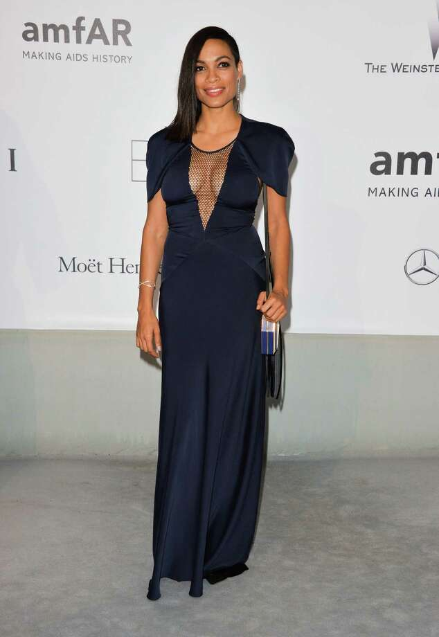Rosario Dawson attends amfAR's 21st Cinema Against AIDS Gala, Presented By WORLDVIEW, BOLD FILMS, And BVLGARI at the 67th Annual Cannes Film Festival on May 22, 2014 in Cap d'Antibes, France.  (Photo by George Pimentel/WireImage) Photo: George Pimentel, Getty Images / 2014 George Pimentel