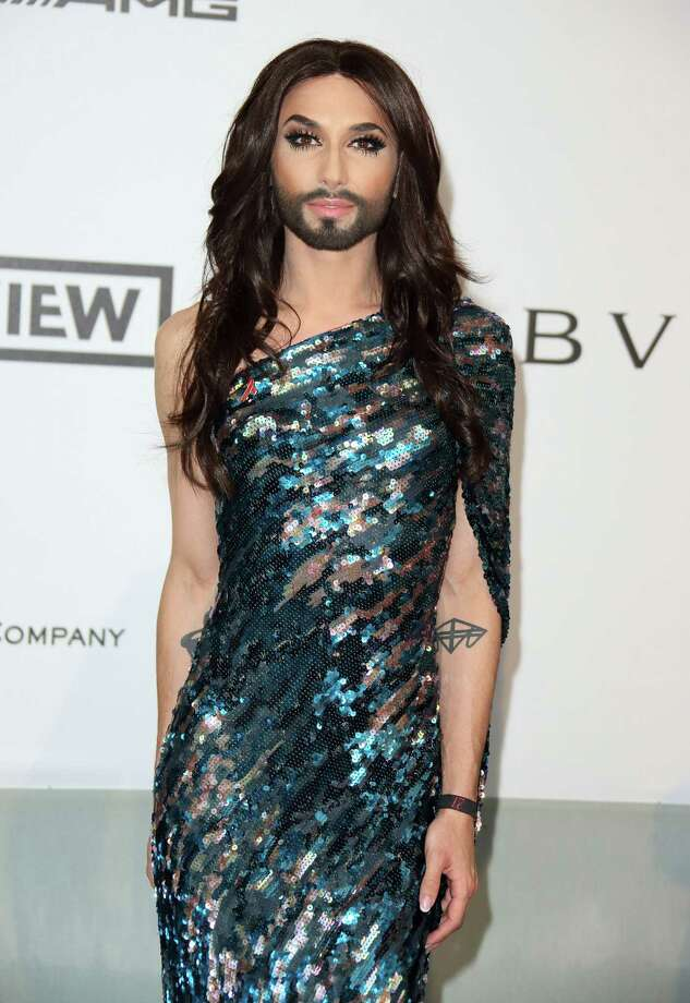 Conchita Wurst attends amfAR's 21st Cinema Against AIDS Gala, Presented By WORLDVIEW, BOLD FILMS, And BVLGARI at the 67th Annual Cannes Film Festival on May 22, 2014 in Cap d'Antibes, France.  (Photo by Mike Marsland/WireImage) Photo: Mike Marsland, Getty Images  / 2014 Mike Marsland