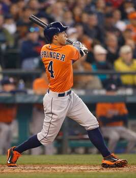 May 25: Astros 4, Mariners 1  George Springer connected on his third homer in two days as the Astros evened the series in Seattle.  Record: 19-32. Photo: Otto Greule Jr, Getty Images