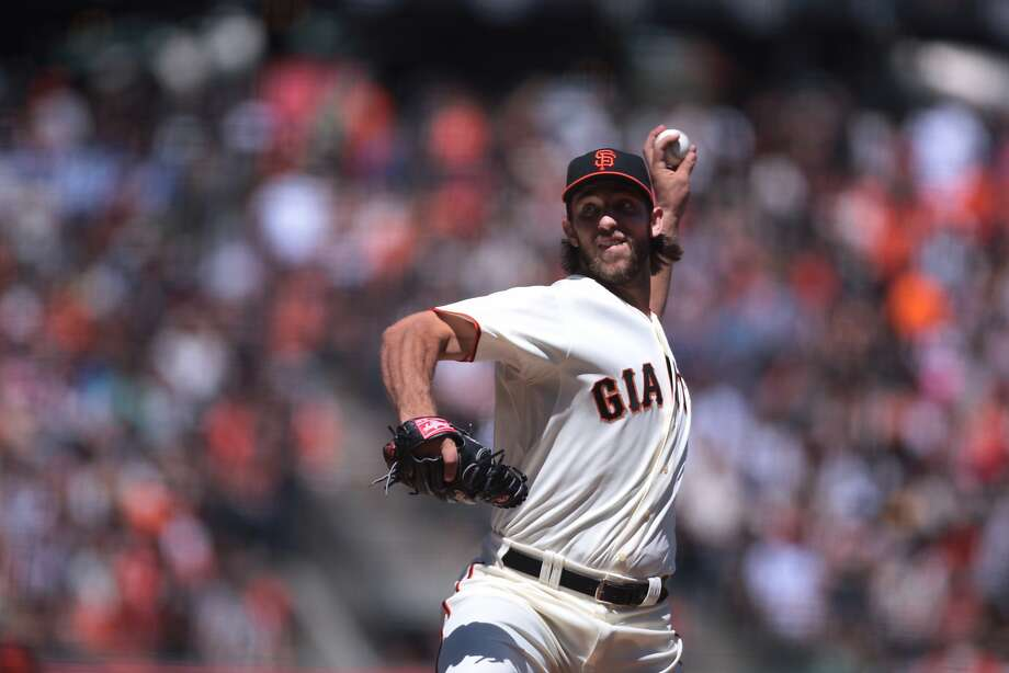 Madison Bumgarner struck out 10 in seven innings against the Twins. Photo: Kevin N. Hume, The Chronicle