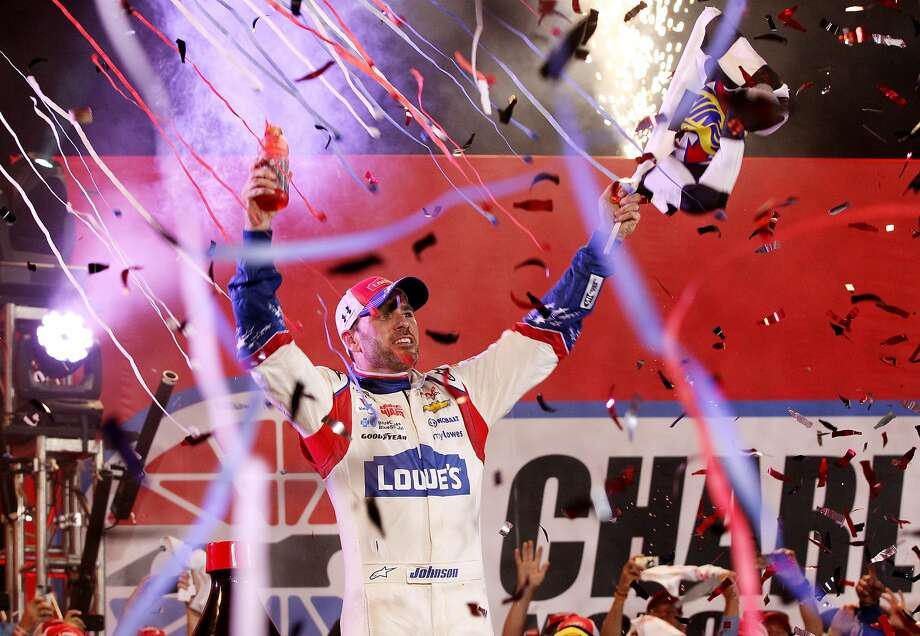 Jimmie Johnson got his first win of the season. Photo: Sarah Glenn, Getty Images