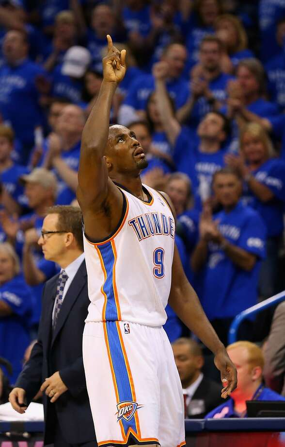 Serge Ibaka had 15 points, seven rebounds and four blocked shots. Photo: Ronald Martinez, Getty Images