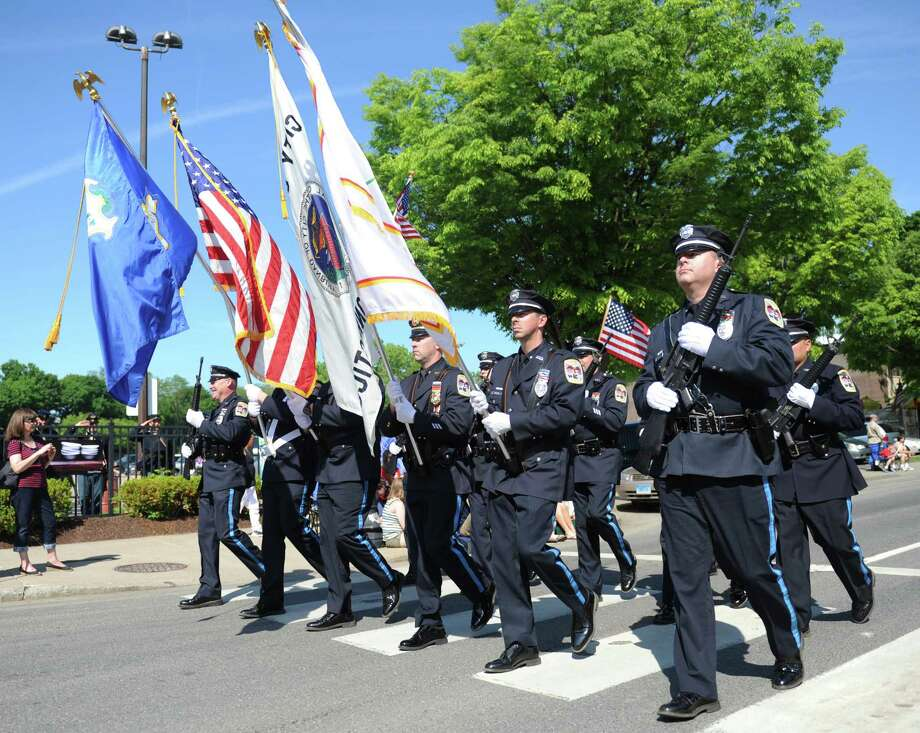 Photos from the Memorial Day parade on Main Street in Danbury, Conn. Monday, May 26, 2014.  The parade began at Rose Street and Main Street, finishing at Rogers Park, where skydivers dropped onto the field at Rogers Park Middle School. The parade was followed by a memorial service at the Rogers Park Rose Memorial Garden. Photo: Tyler Sizemore / The News-Times