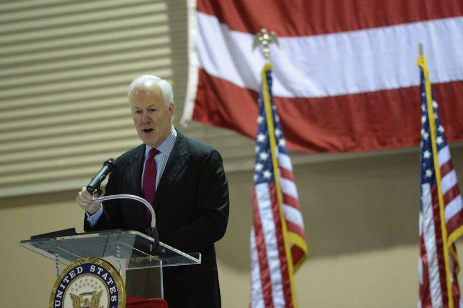 U.S. Sen. John Cornyn speaks to Texas students who will  soon be attending the nation's various military service academies during a send-off ceremony for them at Freeman Coliseum on Memorial Day, May 26, 2014. Major General John F. Nichols gave the keynote address. Medal of Honor recipient Major General Patrick Brady also participated in the event. Photo: Billy Calzada, San Antonio Express-News / San Antonio Express-News