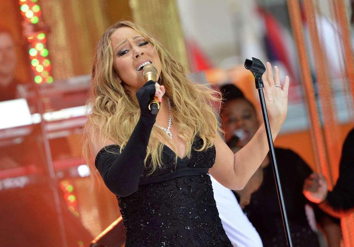 NEW YORK, NY - MAY 16: Singer Mariah Carey performs on NBC's