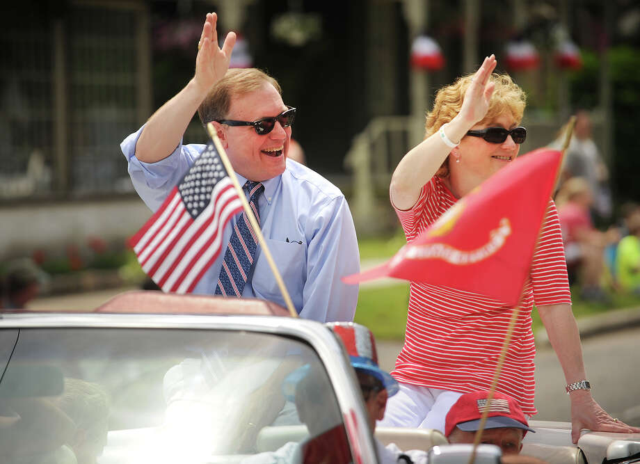 Stratford Mayor John Harkins and wife Jody. The Stratford Memorial Day Parade on Main Street in Stratford, Conn. on Monday, May 26, 2014. Photo: Brian A. Pounds / Connecticut Post
