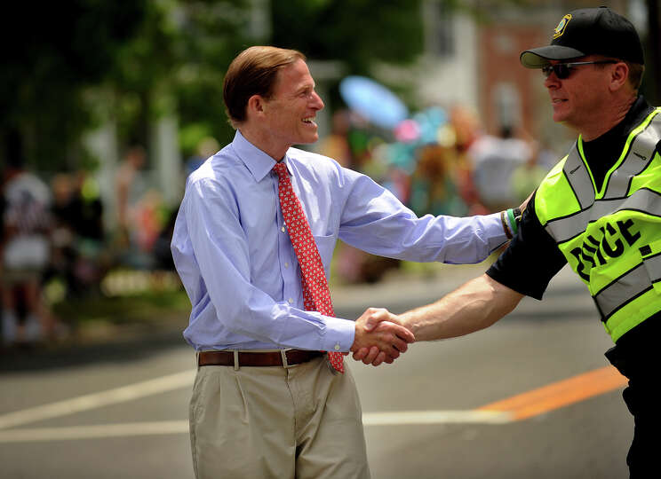 Senator Richard Blumenthal. The Stratford Memorial Day Parade on Main Street in Stratford, Conn. on