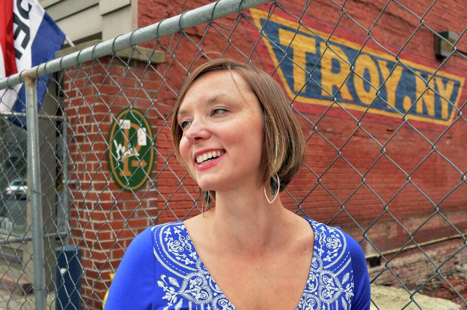 Troy BID executive director Erin Pihlaja on River Street Friday May 2, 2014, in Troy, NY.  (John Carl D'Annibale / Times Union) Photo: John Carl D'Annibale / 00026733A